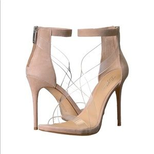 Nude and Clear High Heels